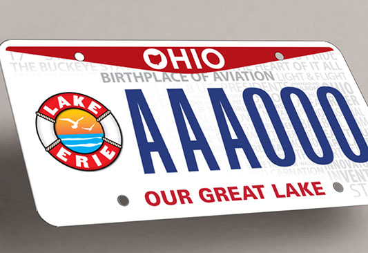 Lake Erie Commission specialty license plate